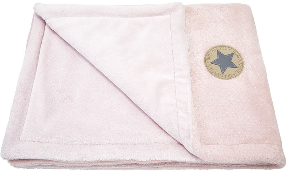 Little Angel deka dvojitá Mazlík Outlast pudrová stříbrný puntík/sv. pudrová