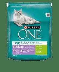 Purina ONE Bifensis Sensitive s morčacím a ryžou 8x800 g