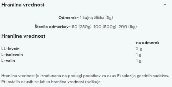 MyProtein BCAA 2:1:1 aminokislinski prašek, breskev, mango, 0,5kg