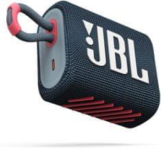 JBL GO 3, modrá/růžová