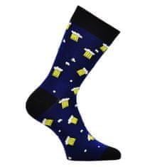 OXSOX OXSOX Pánské bavlněné barevné veselé CRAZY SOCKS ponožky PIVO PIVO ox71001, modrá, 39-42