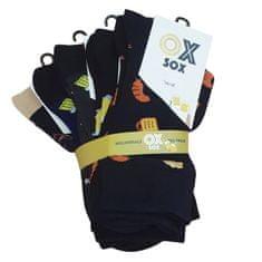 OXSOX Pánské bavlněné barevné veselé CRAZY SOCKS ponožky PIVO ox7100120 5-pack, 43-46