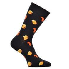 OXSOX OXSOX Pánské bavlněné barevné veselé CRAZY SOCKS ponožky PIVO ox71001, černá, 39-42