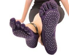 TOETOE Dámské YOGA & PILATES prstové ponožky na cvičení OM, fialová, 35-38