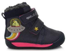 D-D-step dekliški zimski gležnarji barefoot 070-90, 20, temno modri