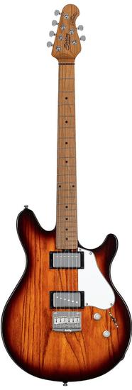 Sterling by MusicMan Valentine Guitar JV60, Vintage Sunburst barva, Roasted Maple Neck