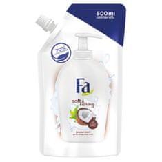 Fa Soft & Caring tekoče milo, Coconout Milk, 500 ml, polnilo