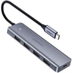 Ugreen USB-C hub, 4 x USB-A, Micro USB