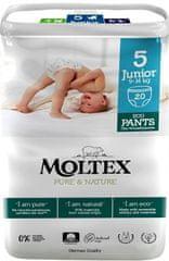 MOLTEX Natahovací plenkové kalhotky Moltex Pure & Nature Junior 9-14 kg (20 ks)