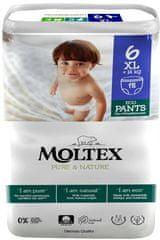 MOLTEX Natahovací plenkové kalhotky Moltex Pure & Nature XL +14 kg (18 ks)