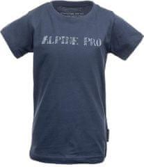 ALPINE PRO BLASO_1 otroška majica, temno modra, 128–134