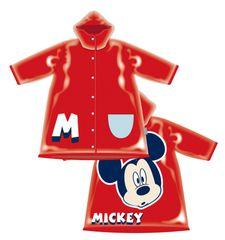 Disney otroški dežni plašč Mickey Mouse, 104, rdeč