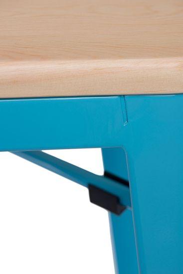 shumee Bárszék Paris Wood 75cm kék természet fenyő