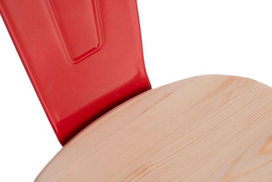 shumee Paris Arms Les stol rdeč naravni bor