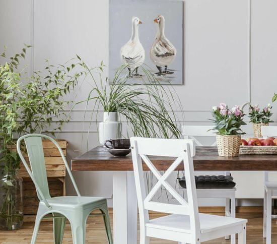 shumee Pariški stol, bel po navdihu Tolixa