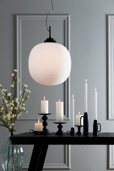 shumee Viseča svetilka Milkey 40x40 bela