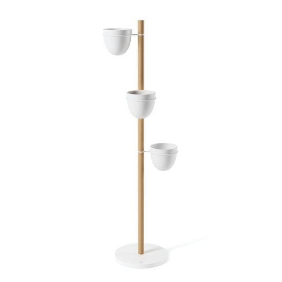 shumee FLORISTAND bílý / dřevěný stojan na rostliny