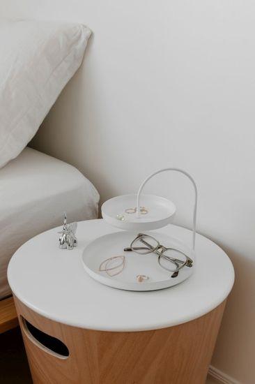 shumee Podwójny organizer na biżuterię, białyPOISE
