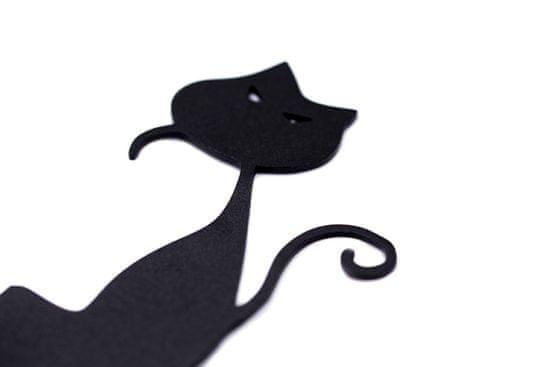 shumee Wieszak ścienny Koty czarny