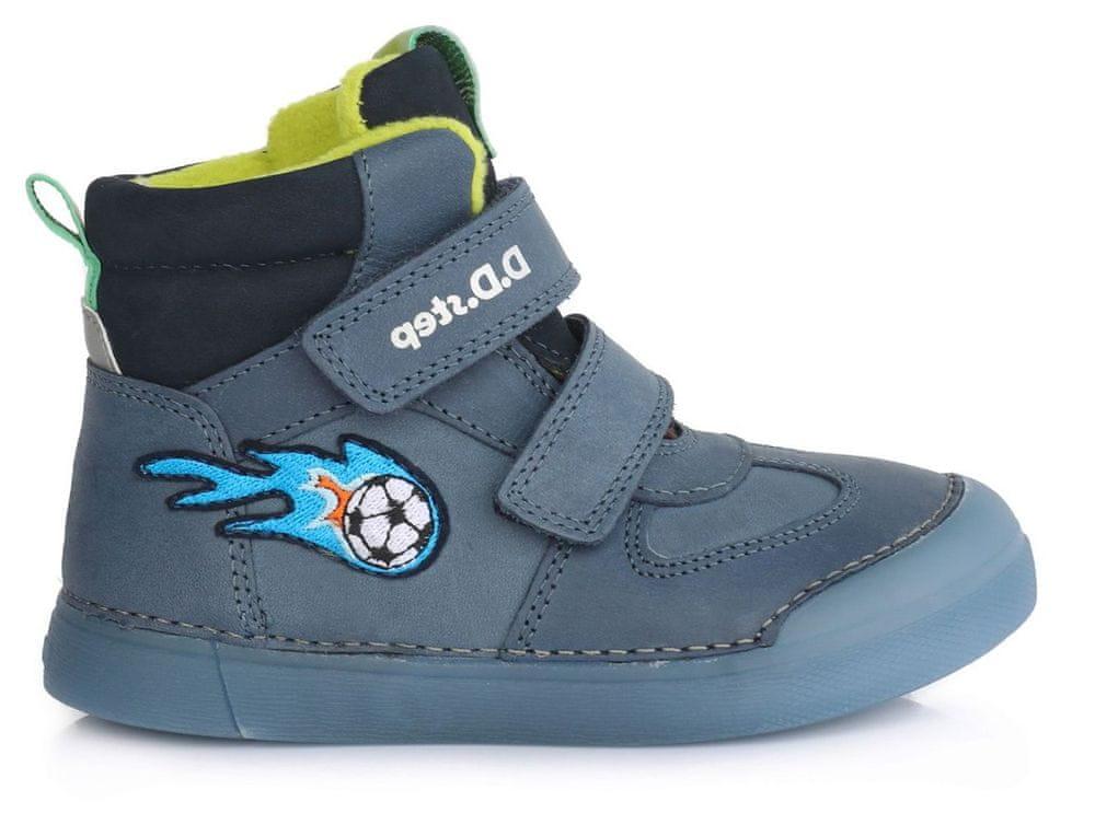 D-D-step chlapecká zimní svítící kotníčková obuv 068-642A 36 modrá