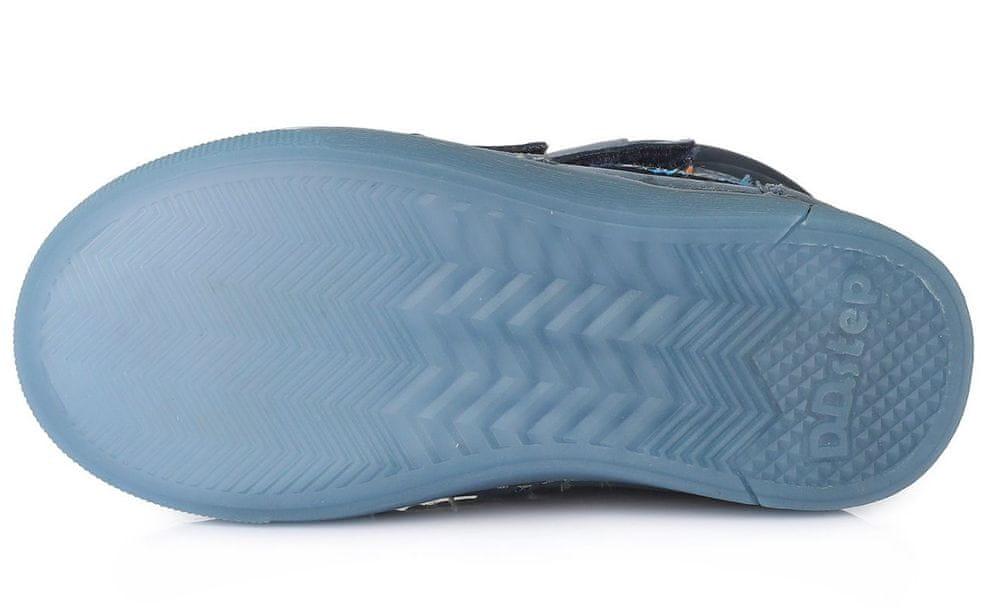 D-D-step chlapecká zimní svítící kotníčková obuv 068-642A 34 modrá