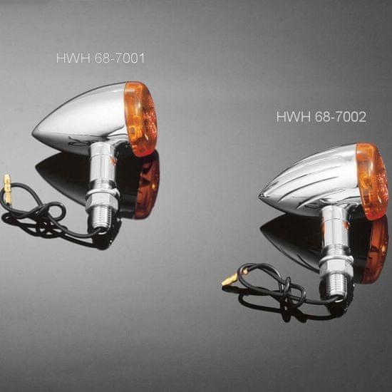 Highway-Hawk moto blinkre TECH GLIDE smooth, E-mark, chróm (2ks)