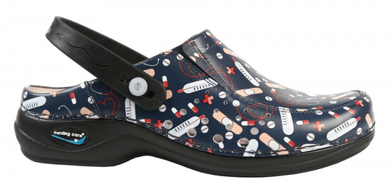 Nursing Care BERLIM pracovní kožená pratelná obuv s certifikací unisex s páskem health 03 WG4APF26 Nursing Care Velikost: 35