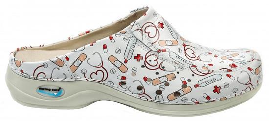 Nursing Care BERLIM pracovní kožená pratelná obuv s certifikací unisex bez pásku health 10 WG4AF25 Nursing Care Velikost: 35