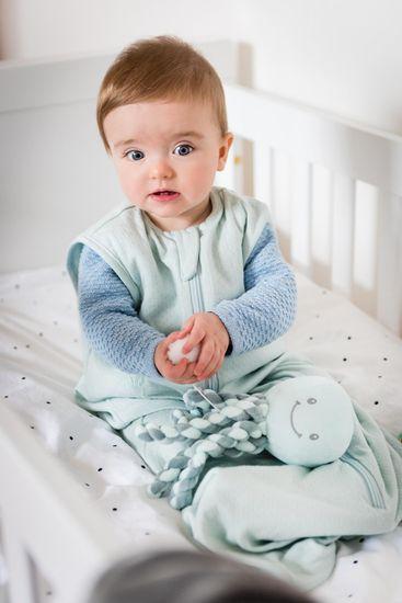 Nattou První hračka miminka hrající chobotnička PIU PIU Lapidou coppergreen