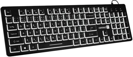 Connect IT podświetlana klawiatura biurowa, CZ / SK (CKB-4041-EN)