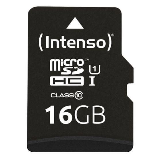 Intenso Premium Micro SDXC spominska kartica, 16 GB, 45 MB/s, UHS-I + SD adapter