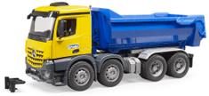Bruder 3623 tovornjak prekucnik Mercedes-Benz Acros, modro-rumen