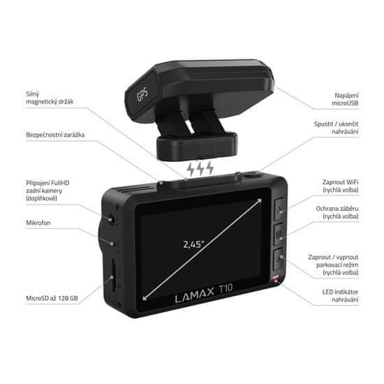 LAMAX T10 4K GPS (radarjelentéssel)