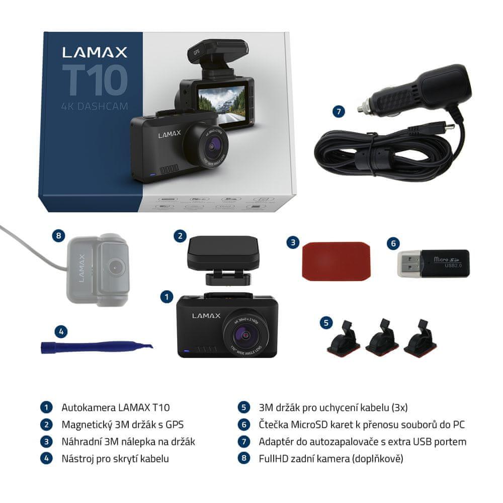 LAMAX T10 4K GPS (s hlášením radarů) - rozbaleno
