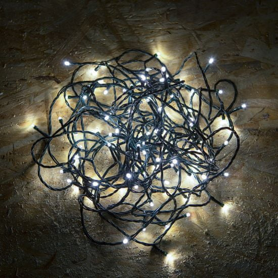 Family Christmas Novoletne lučke IP44 hladno bele 10m 200 kos s programatorjem