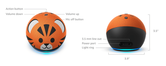 Amazon Kids Edition Designed for kids, with parental controls - Tiger