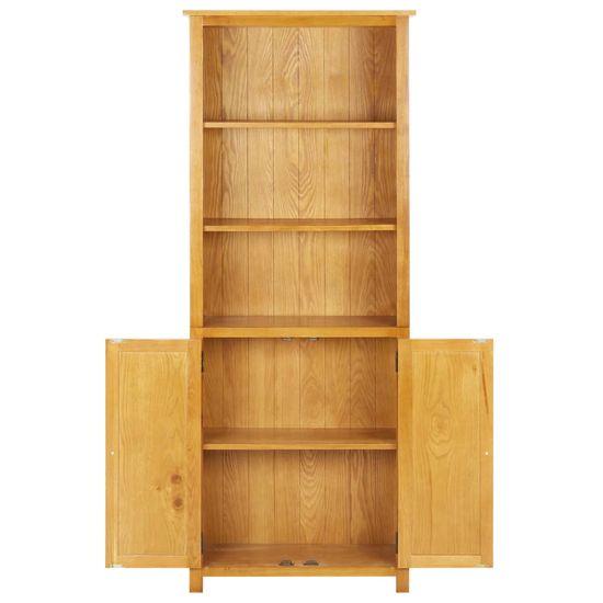 shumee tömör tölgyfa könyvespolc 2 ajtóval 90 x 30 x 200 cm