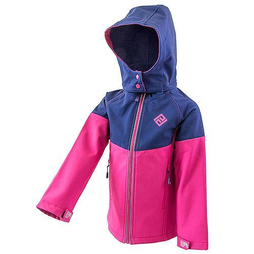 PIDILIDI Dívčí softshellová bunda 134 růžová