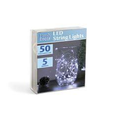 Family Christmas 5m božično - novoletne micro LED lučke na baterije 3 x AA hladno bele