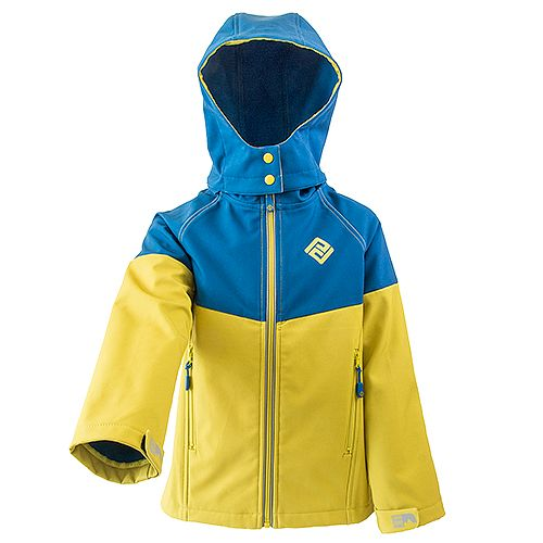 PIDILIDI Chlapecká softshellová bunda 134 žlutá