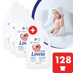Lovela Baby tekutý prací prípravok na bielu bielizeň 11,6 l / 128 pracích dávok (3+1 zdarma)
