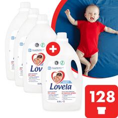 Lovela Baby tekutý prací prípravok na farebnú bielizeň 11,6 l / 128 pracích dávok (3+1 zdarma)