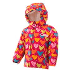 PIDILIDI Lány téli kabát szőrmével, 80, piros