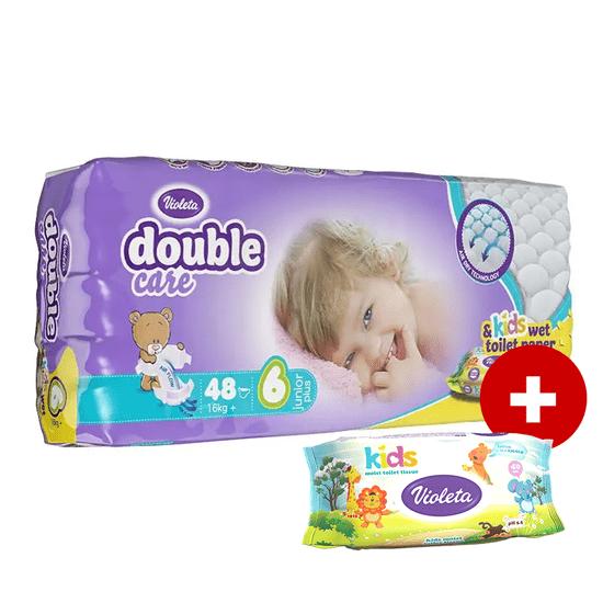 Violeta Air Dry Junior Plus plenice, vel. 6, 48/1 + toaletni papir, vlažilni