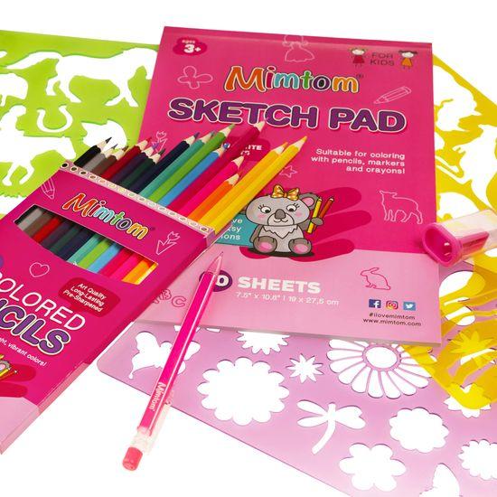 Mimtom Šablony pro děti (14ks) - sada na kreslení a malování