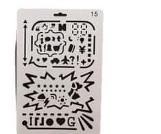 Kraftika Plastová šablona s motivem internetových ikon, google, pc