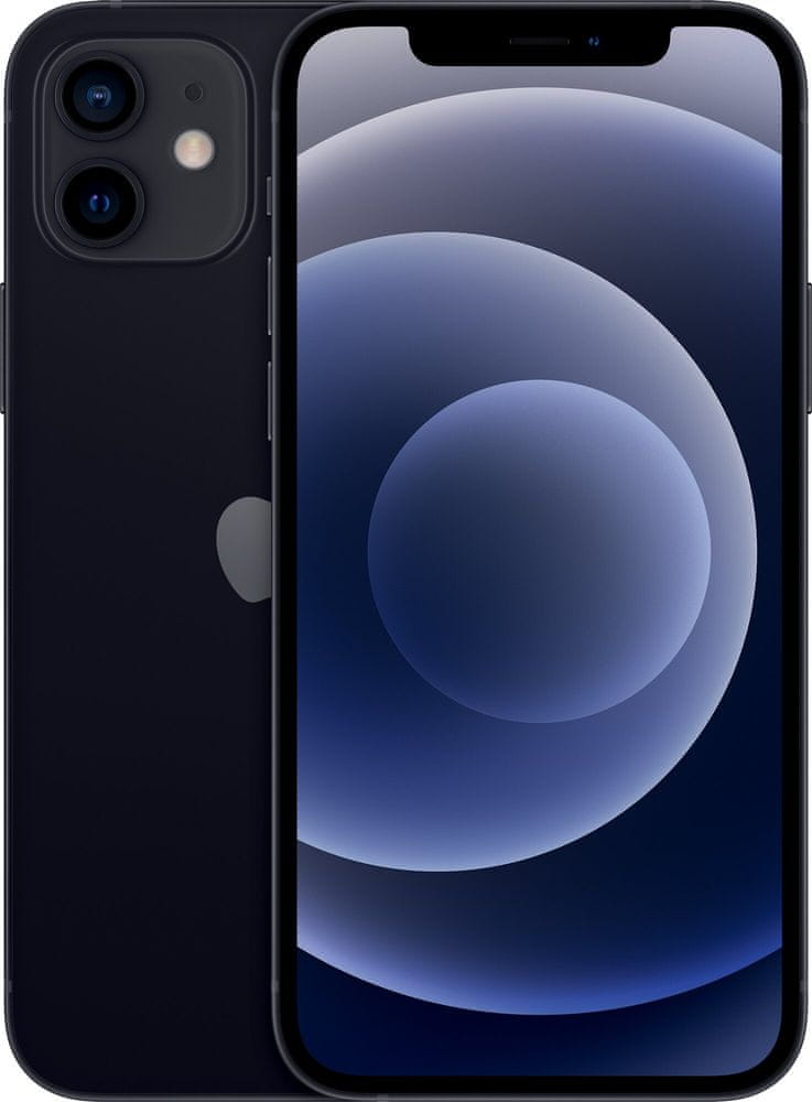 Apple iPhone 12, 64GB, Black - rozbaleno