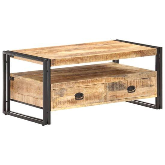 shumee nyers mangófa dohányzóasztal 100 x 55 x 45 cm