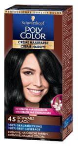 Schwarzkopf Poly Color kremna barva za lase, 45 Black