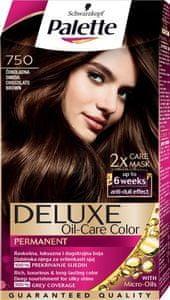 Schwarzkopf Palette Deluxe barva za lase, 750 Chocolate Brown